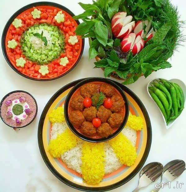 مدل تزیین غذای ایرانی