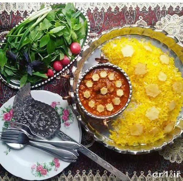 عکس تزیینات غذا مجلسی