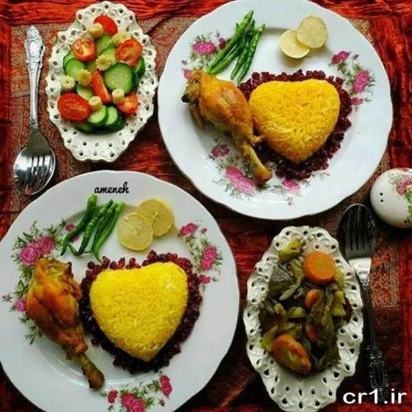عکس تزیین انواع غذا