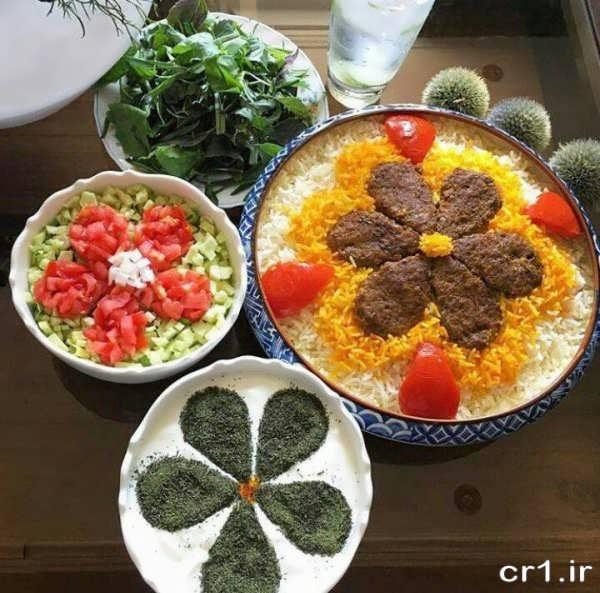 تزیین چلوکباب