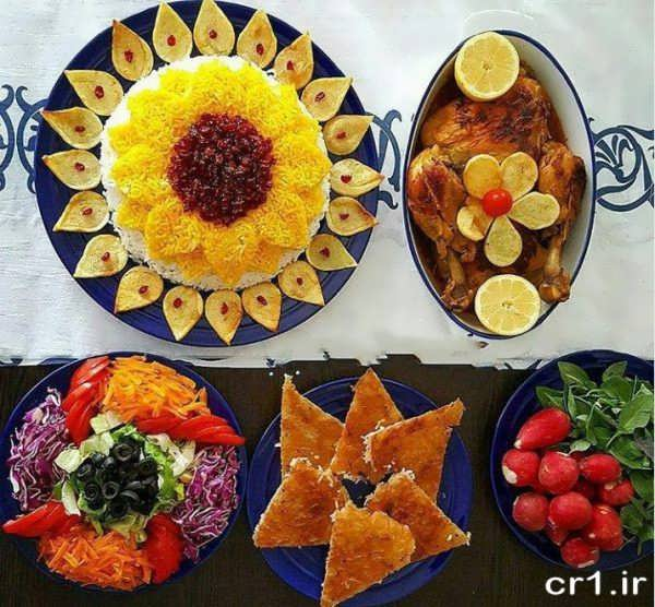 مدل شیک و زیبای تزیین غذا