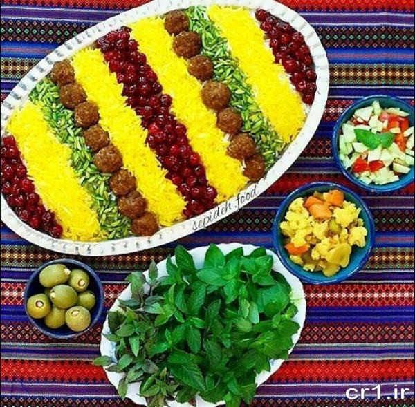 مدل زیبای تزیین غذا