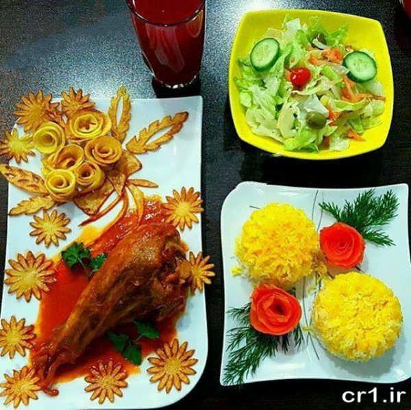 عکس دیزاین غذا با ایده های جدید