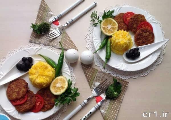 عکس تزیین غذا شیک و زیبا
