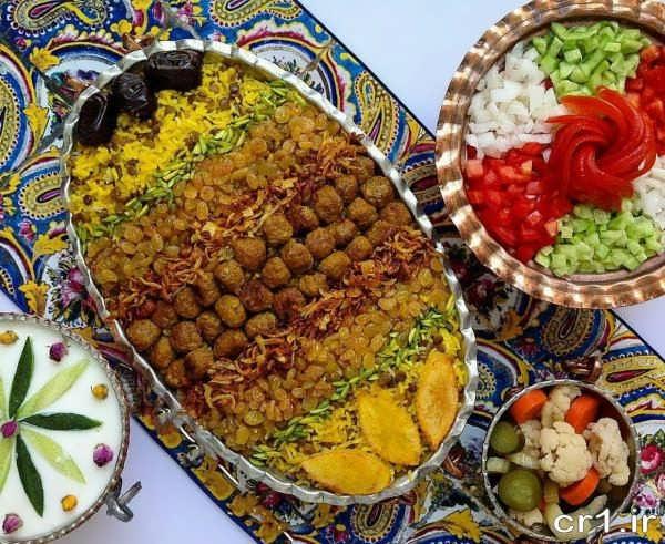 عکس تزیین برنج مجلسی
