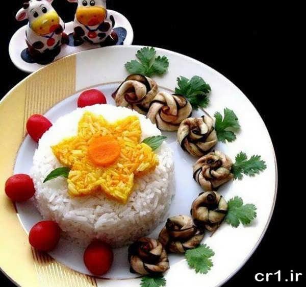 عکس تزیین غذا ایرانی