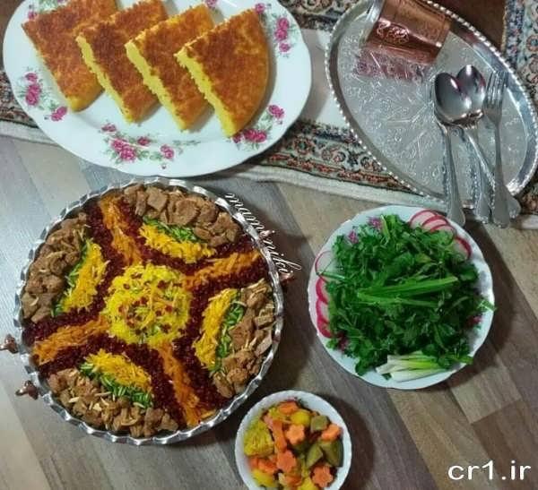 تزیین غذاهای ایرانی