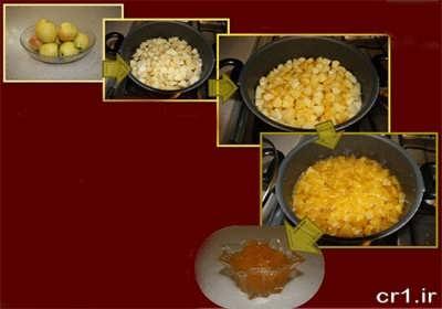 پخت مربای سیب