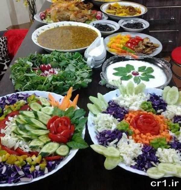 تزیین غذا و سالاد جدید