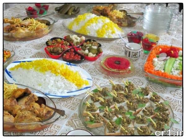 تزیین انواع غذا و سالاد
