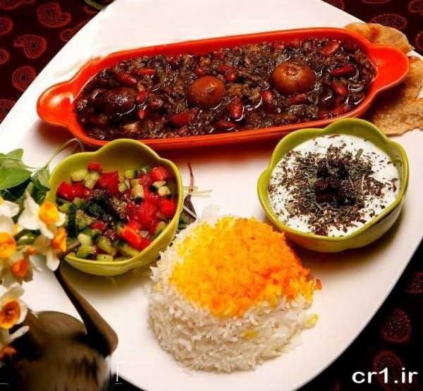 تزیین غذا های ایرانی