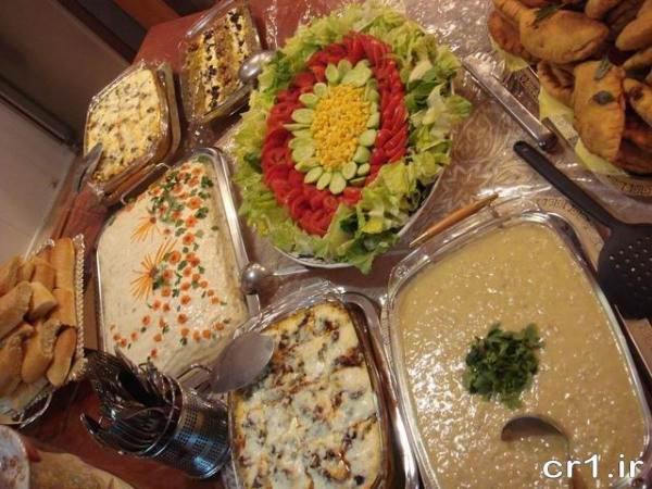 تزیین غذا و سالاد زیبا