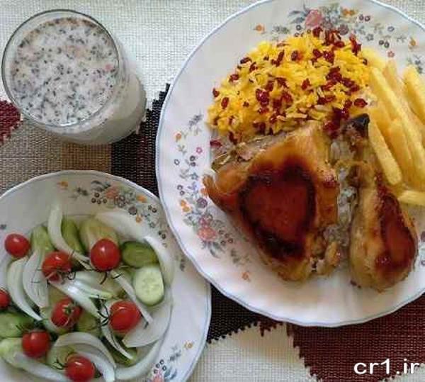 دیزاین غذا و سالاد برای مهمان
