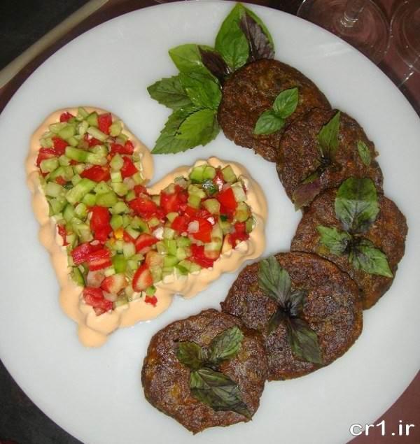 تزیین زیبای غذا و سالاد مجلسی