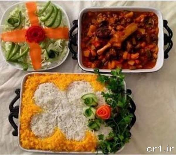 تزیین سالاد و غذا برای مهمانی