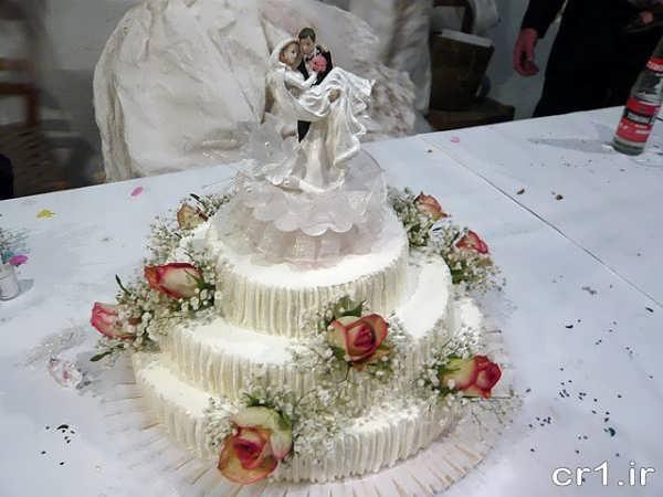 مدل کیک عروسی با تزیین زیبا