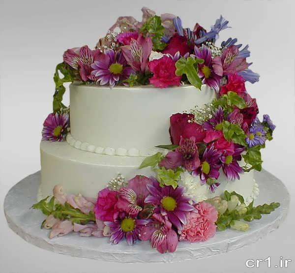 مدل کیک با تزیینات زیبا و ساده