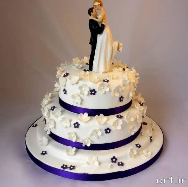 مدل کیک عروسی با تزیین زیبا و شیک