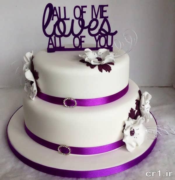 تزیین کیک عروسی زیبا