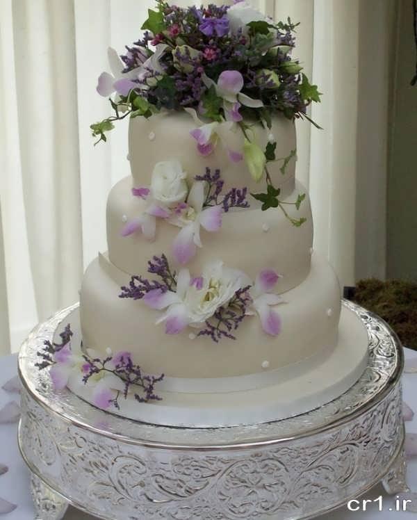 کیک عروسی سه طبقه زیبا