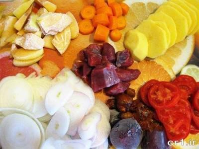 مواد لازم برای پخت تاس کباب