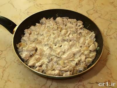 دستور پخت چیکن استراگانف