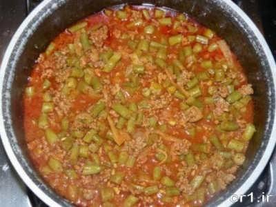 دستور پخت لوبیا پلو