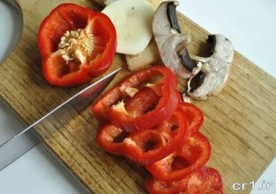 طرز تهیه ی پیتزا سبزیجات