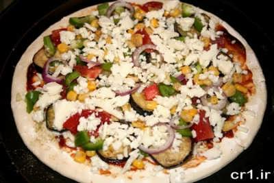 طرز تهیه ی پیتزا با سبزیجات