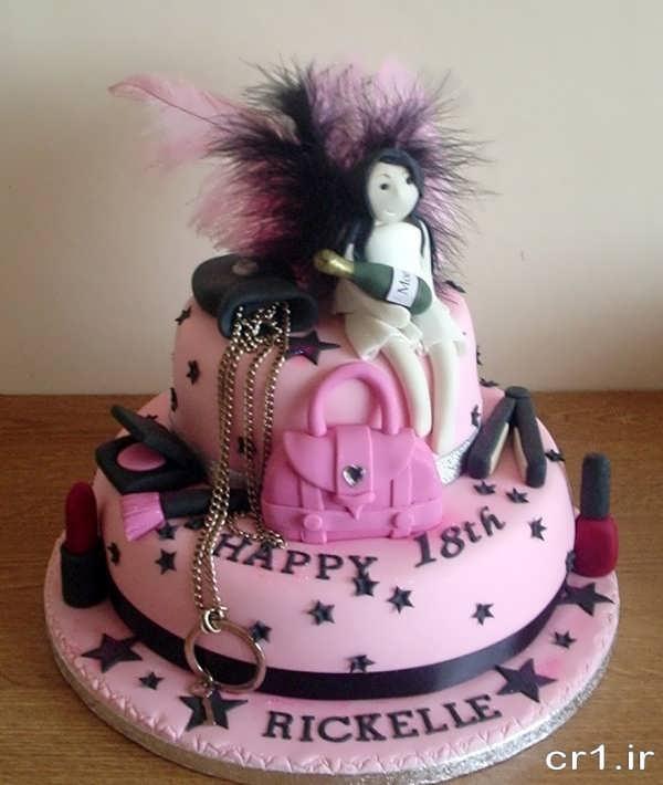 تزین کیک تولد دخترانه