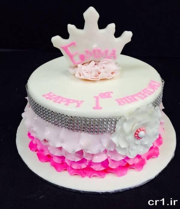 مدل کیک تولد دخترانه ساده