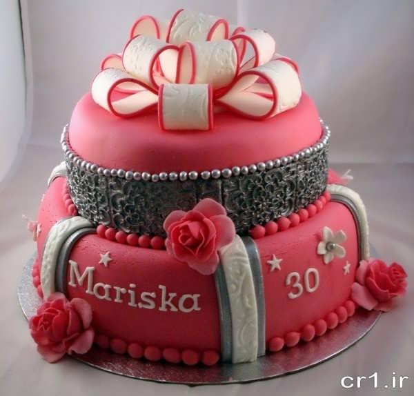 کیک تولد ساده دخترانه