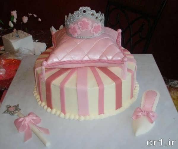 تزیین زیبای کیک تولد دخترانه