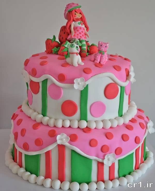 تزیینات کیک تولد دخترانه