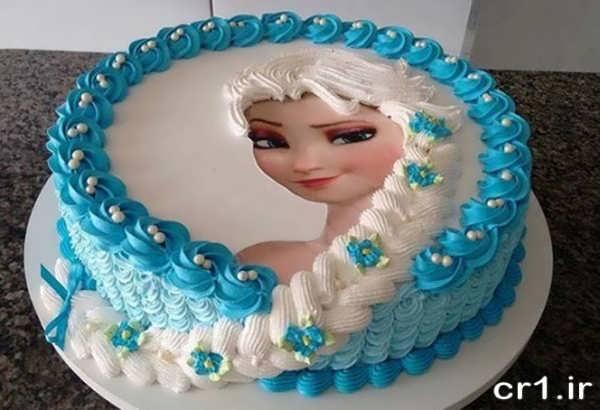 تزیین کیک تولد با تم پرنسس