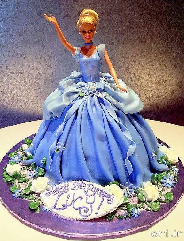 تزیین کیک تولد دخترانه زیبا
