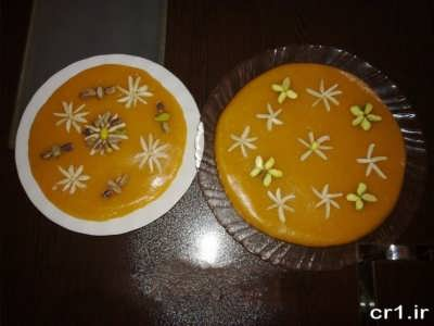 تزیین ساده و زیبا حلوای هویج