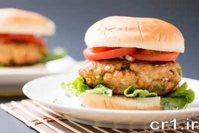 همبرگر مرغ