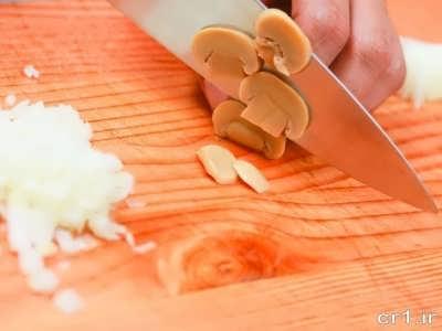 قارچ خرد شده