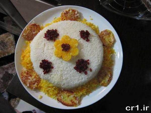 تزیین روی برنج