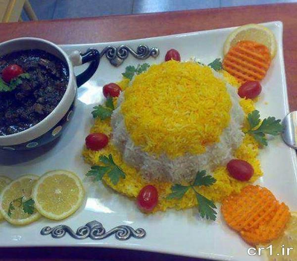مدل تزیین برنج برای مهمانی