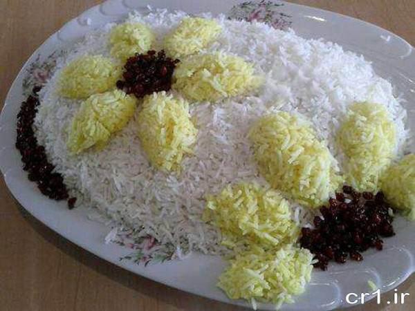 تزیین جدید برنج در دیس
