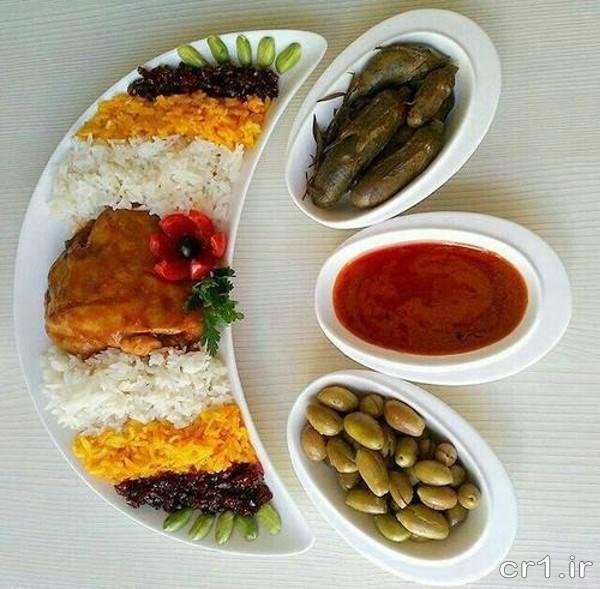تزیین برنج مجلسی جدید