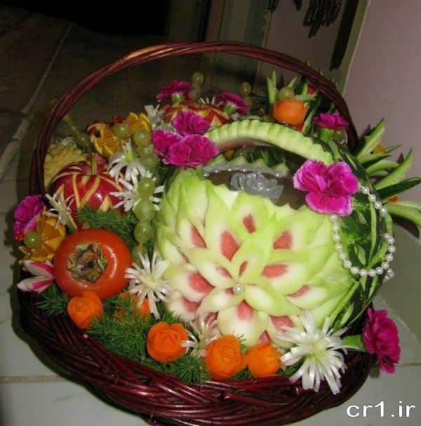 تزیین ظرف میوه شب یلدا