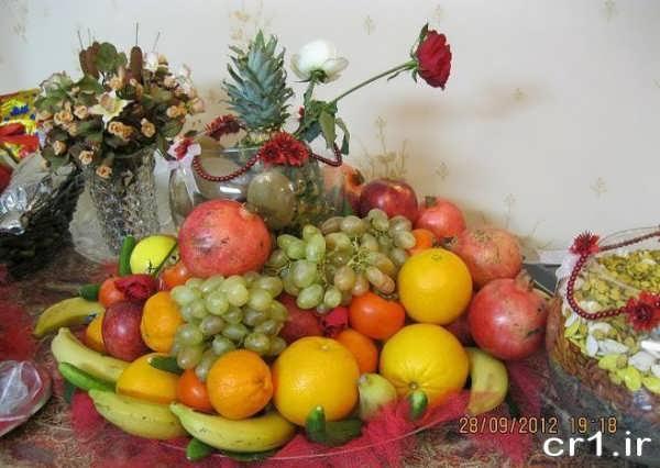 تزیینات میوه برای شب یلدا