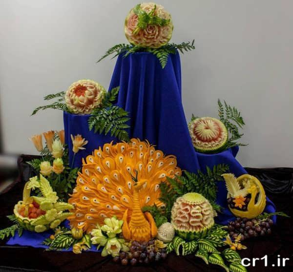 تزیین میوه جدید برای شب یلدا عروس