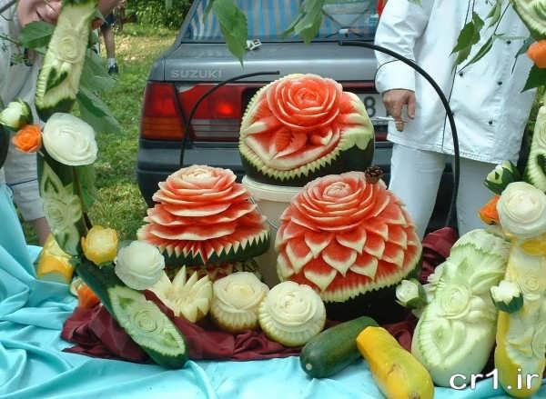 حکاکی روی هندوانه برای شب یلدا
