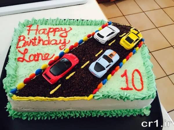 کیک تولد پسرانه ماشین