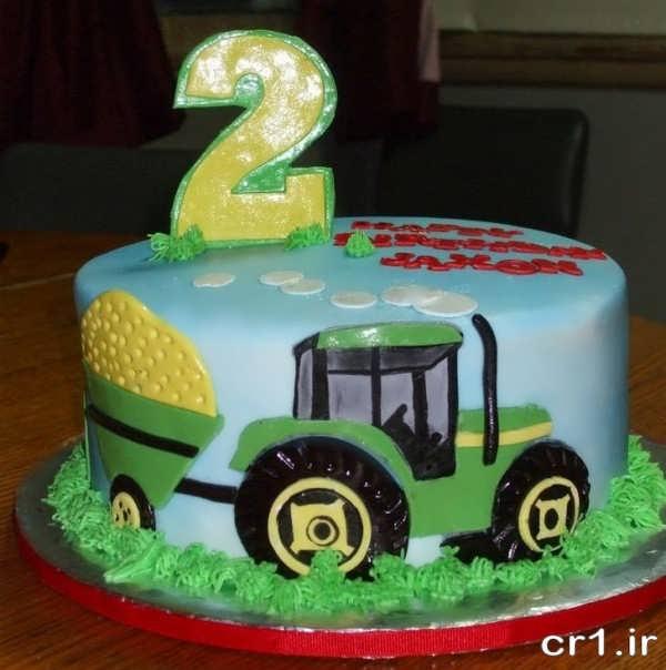 تزیین کیک تولد ماشین