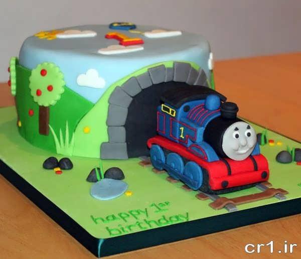کیک تولد با طرح قطار